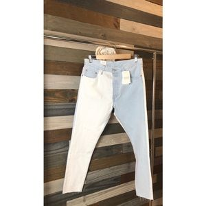 Levi's 501 Two Toned Skinny Jeans NWT